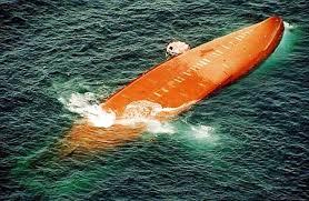 Epave du bateau au large des côtes gambiennes. Source : wikipedia