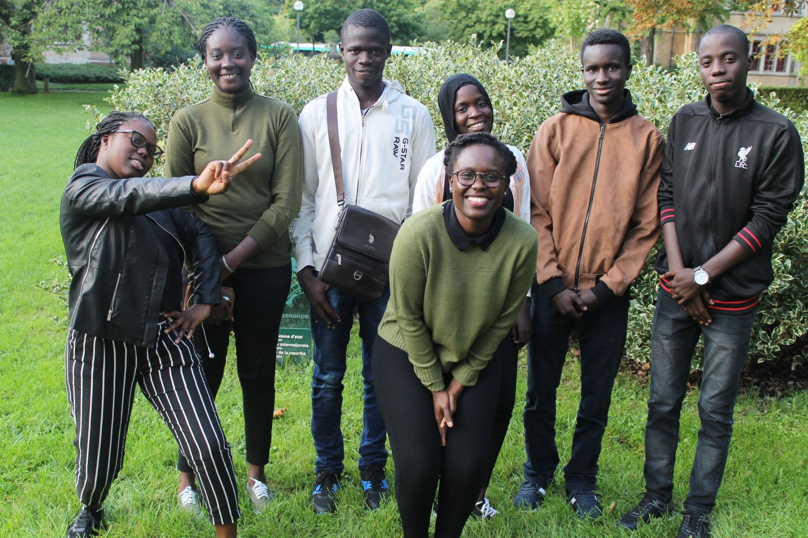 Une partie de la team Paris des boursiers d'Excellence du gouvernement du Sénégal - Septembre 2017